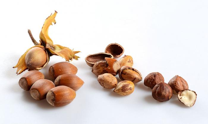 Nuts, raw, untreated: hazelnuts (Corylus spp.)