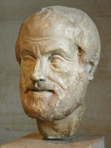 Portrait of Aristoteles. Copy of a lost bronze sculpture, Imperial era (1st or 2nd century). Louvre