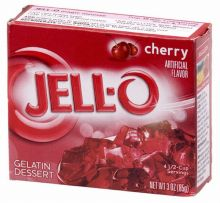 "Cherry flavor ""Jell-O"". There are many flavors available."