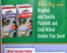 US milk substitute: Flax milk made of flax seeds. Own photo.