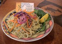Kelp noodles from a raw food restaurant in Seattle.