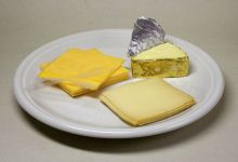 A variety of processed cheeses. Wikipedia.