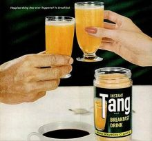 Tang instant breakfast drink. Photo from a advert by General Foods.