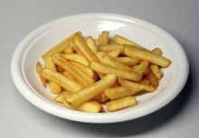Plate of French fries. Photo Wikipedia.