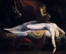 Painting oil on canvas, NIghtmare, by Johann Heinrich Füssli.