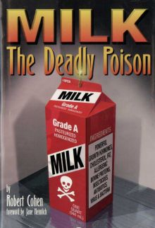 "Portada del libro ""MILK The Deadly Poison"" de Robert Cohen."